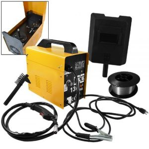 ARKSEN© MIG-130, 115v Gas-Less Flux Core Wire Welder Welding Machine Automatic Feed