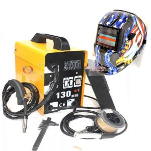 Super Deal Black Commercial MIG 130 AC, 110v Flux Core Wire Automatic Feed Welder
